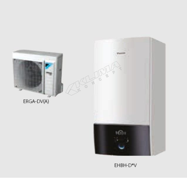 Daikin Altherma 3 R W › samo za grijanje › 04-06-08 kW  EHBH-D6V/D9W + ERGA-DV3(A)
