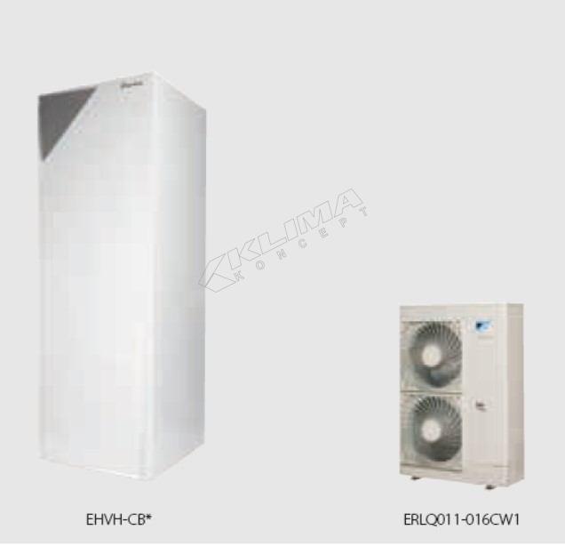 Daikin Altherma R F › samo za grijanje › 11-14-16 kW + integriran spremnik za PTV  EHVH-CB + ERLQ-CV3/W1