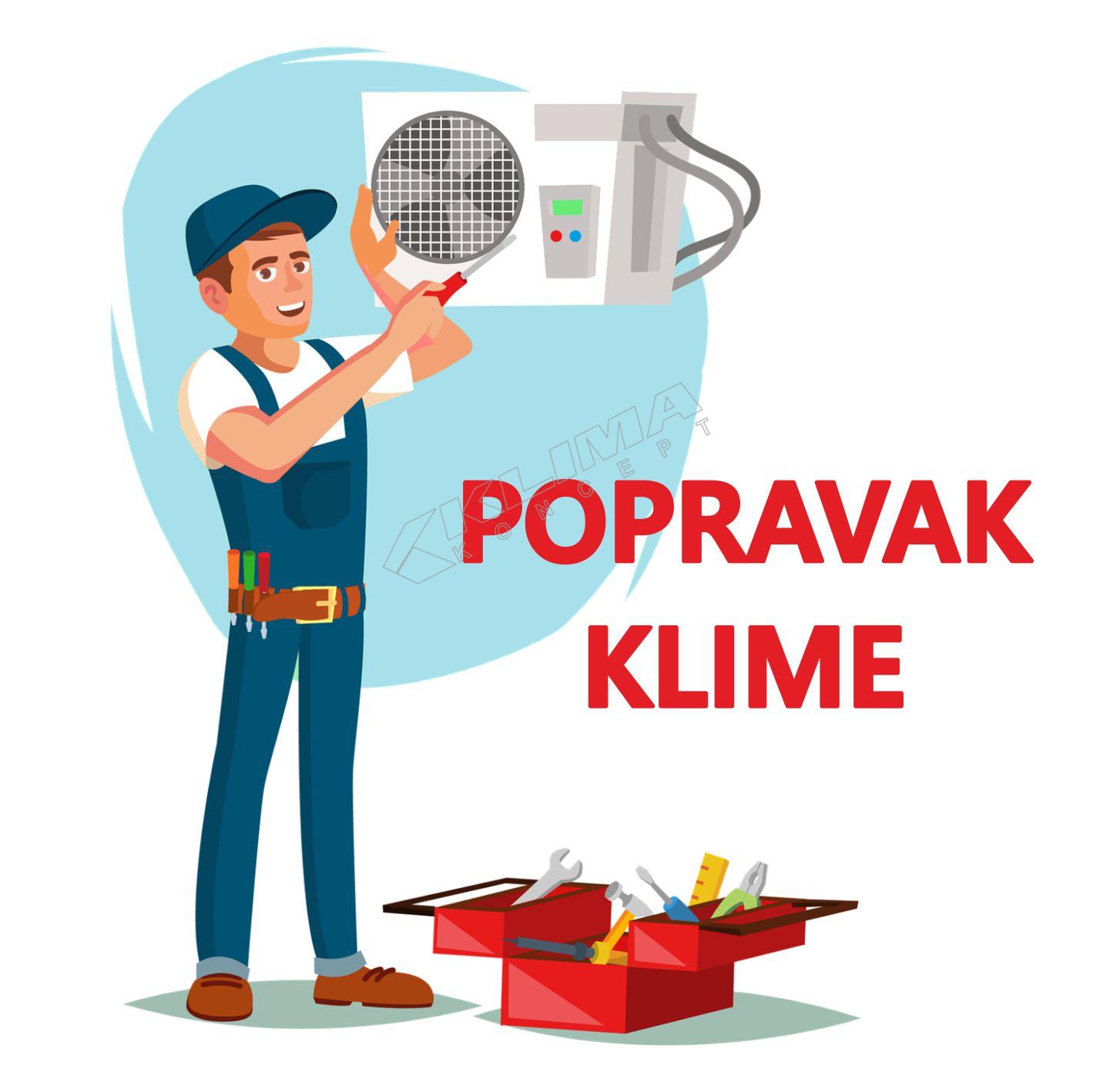 KONTROLA RADA KLIMA UREĐAJA I NADOPUNA PLINA - ZA SNAGE DO 5,5 kW