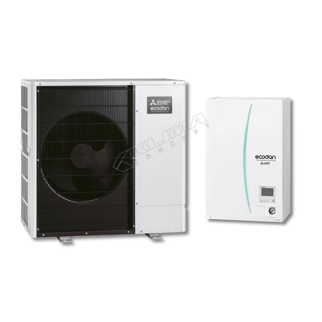 Mitsubishi Electric Ecodan - Set PUHZ-SW100YAA/EHSC-YM9C/PAC-TH011-E trofazna