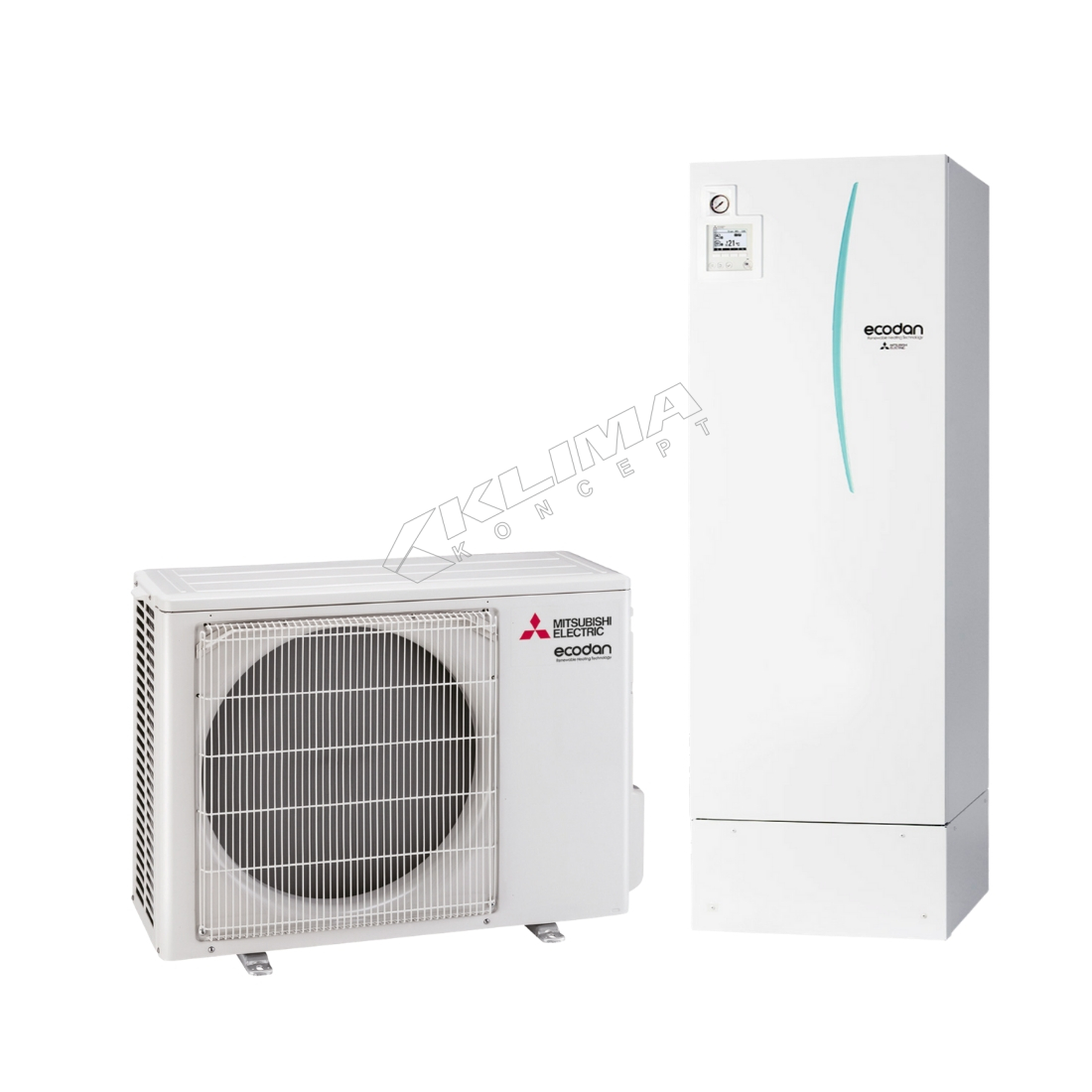Mitsubishi Electric Ecodan - Set PUHZ-SW50VKA+EHST20D-YM9+PAC-TH011-E