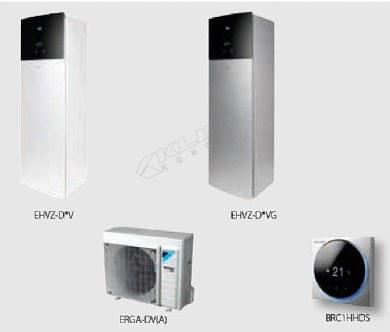 Daikin Altherma 3 R F › dvozonski modeli samo za grijanje › 04-06-08 kW + integriran spremnik za PTV  EHVZ-D6V(G)/D9W(G) + ERGA-DV3(A)