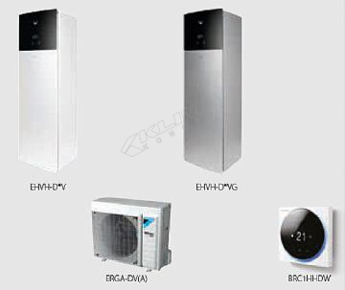 Daikin Altherma 3 R F › samo za grijanje › 04-06-08 kW + integriran spremnik za PTV  EHVH-D6V(G)/D9W(G) + ERGA-DV3(A)