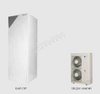 Daikin Altherma R F › dvozonski modeli samo za grijanje › 11-14-16 kW  EHVZ-CB3V + ERLQ-CV3/W1