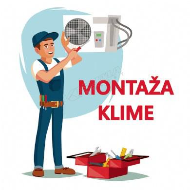 MONTAŽA KLIMA UREĐAJA SNAGE 4,6 - 7,9 kW NA POSTAVLJENE INSTALACIJE