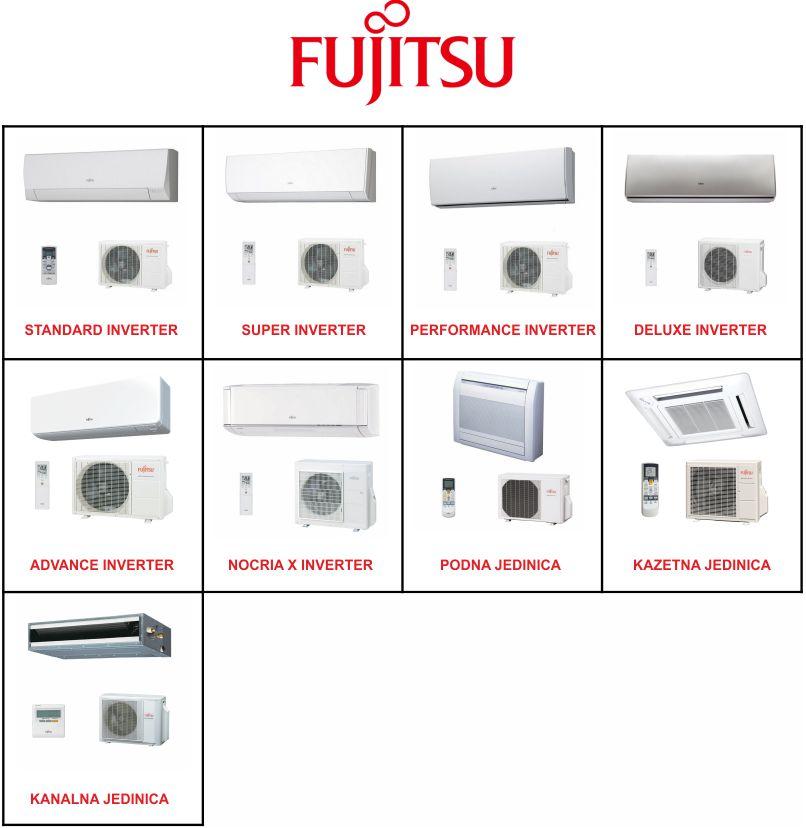 Serije klima uređaja Fujitsu