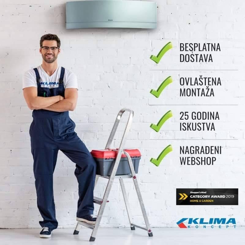 Prodaja i montaža klima uređaja na području cijele Hrvatske