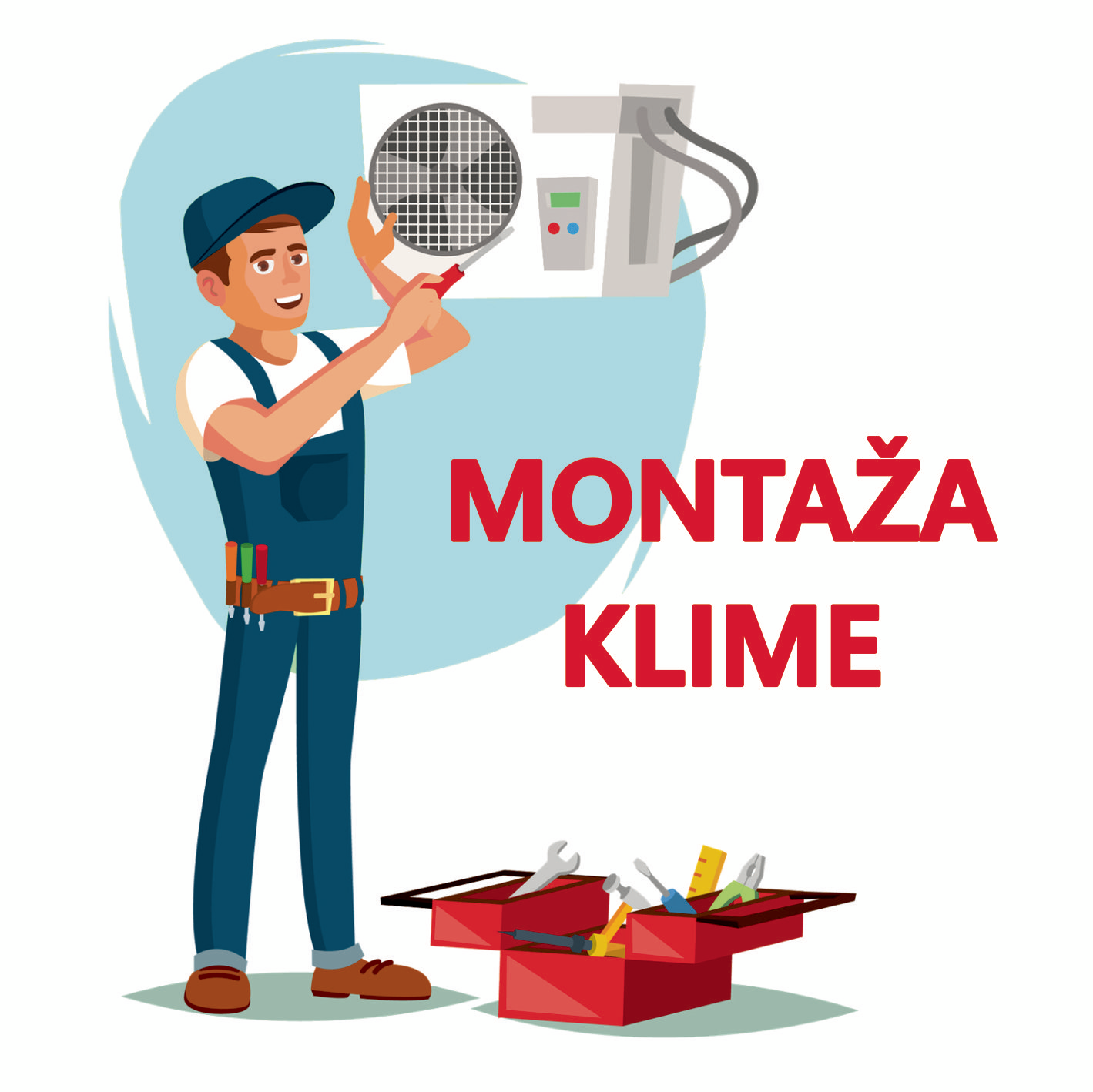 MONTAŽA KAZETNOG KLIMA UREĐAJA SNAGE 8 - 10 kW