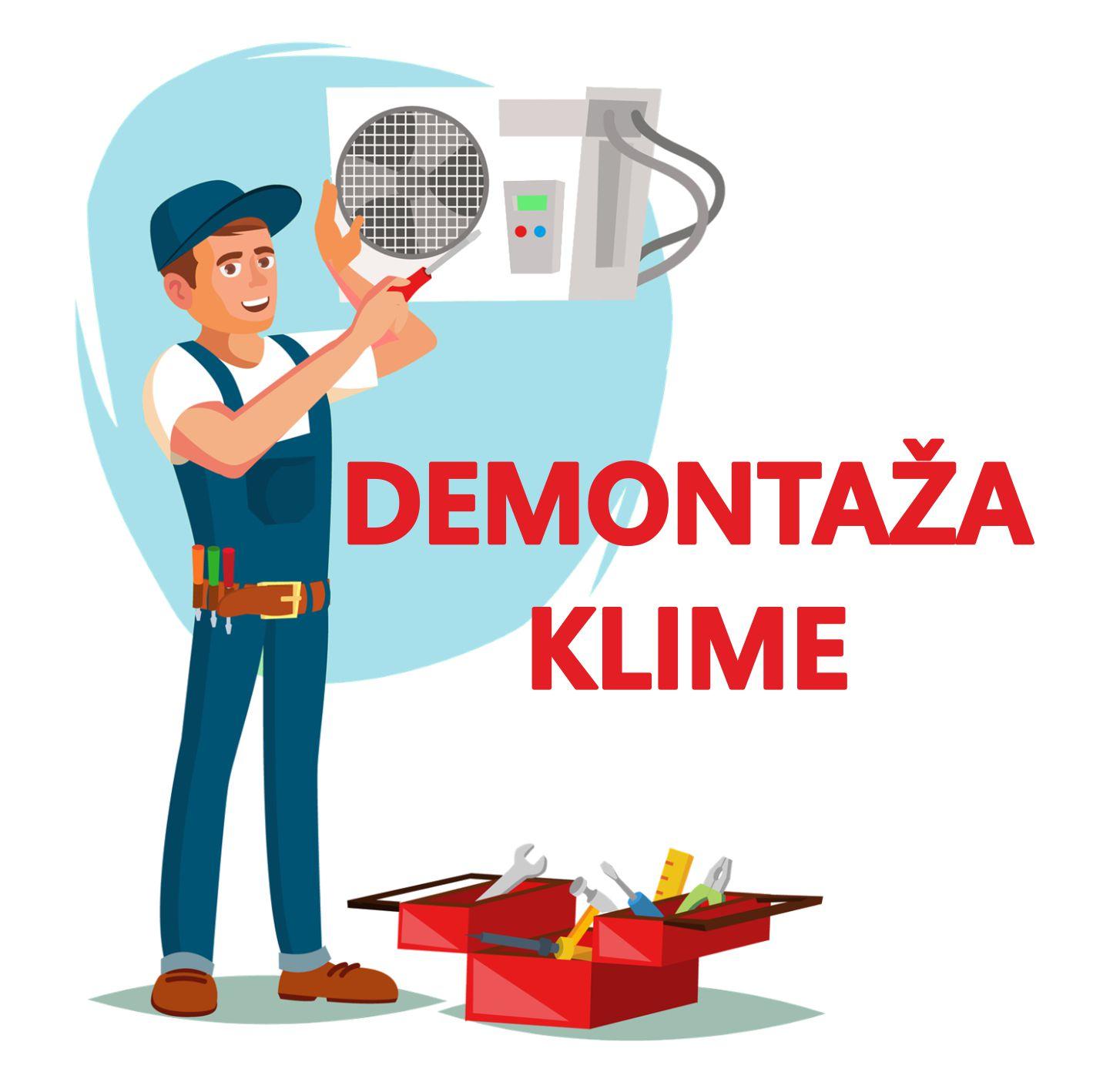 DEMONTAŽA KLIMA UREĐAJA SNAGE DO 5,5 kW