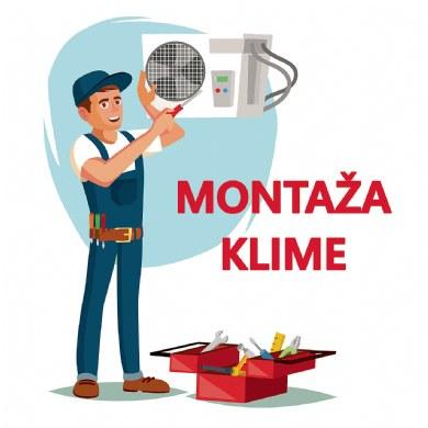 MONTAŽA KLIMA UREĐAJA SNAGE DO 4,9 kW NA POSTAVLJENE INSTALACIJE