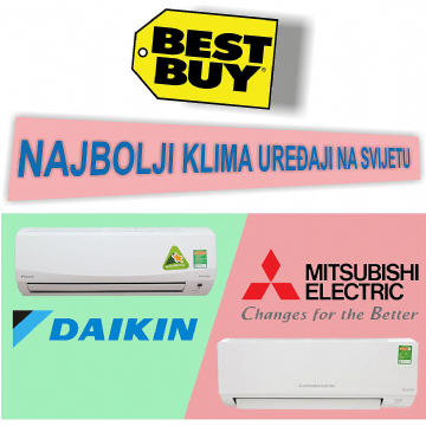 Evo zašto su MITSUBISHI i DAIKIN najbolji klima uređaji